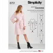 8751 Simplicity Pattern: Misses' Tunic Dress with Hacking Instructions